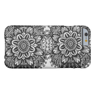 Schwarzweiss-Mandala-Kasten Barely There iPhone 6 Hülle