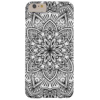 Schwarzweiss-Mandala-Kunst-Telefon-Kasten Barely There iPhone 6 Plus Hülle