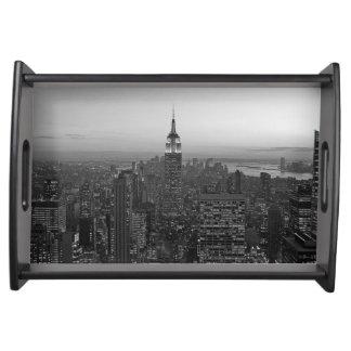 Schwarzweiss-Manhattan Tablett