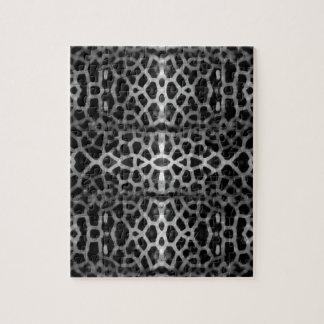 Schwarzweiss-Maschenmuster Puzzle