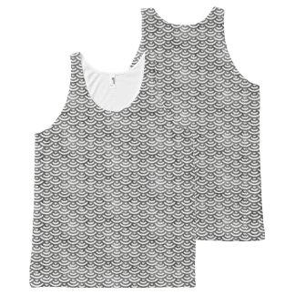 Schwarzweiss-Meerjungfrau-Pastell-Muster Komplett Bedrucktes Tanktop