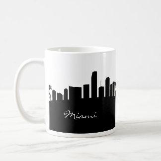 Schwarzweiss-Miami-Skyline Kaffeetasse