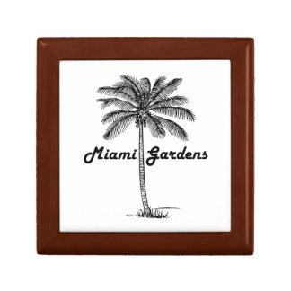 Schwarzweiss-Miamigarten- u. -palmenentwurf Erinnerungskiste