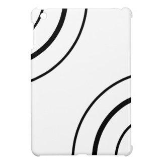 Schwarzweiss-Minimalist des Kreis-Entwurfs-| iPad Mini Hülle