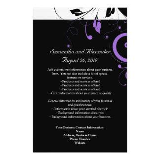 Schwarzweiss mit lila Strudel-Akzent Personalisierte Flyer