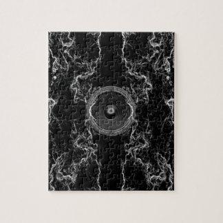 Schwarzweiss-Musik-Lautsprecher Puzzle