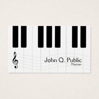 Schwarzweiss-Musiker-Klavier Visitenkarte