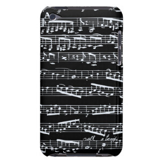Schwarzweiss-Musiknoten iPod Touch Case