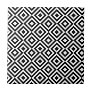 Schwarzweiss-Muster des Quadrat-001 Keramikfliese