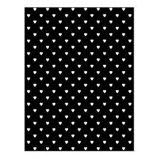 Schwarzweiss-Muster - Herzen Postkarte