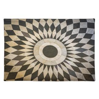 Schwarzweiss-Muster-Tischset Stofftischset