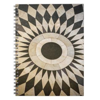 Schwarzweiss-Musternotizbuch Spiral Notizblock