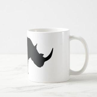 Schwarzweiss-Nashorn Kaffeetasse