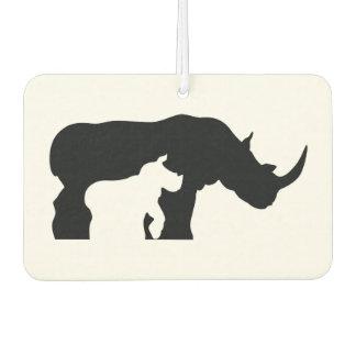 Schwarzweiss-Nashorn Lufterfrischer