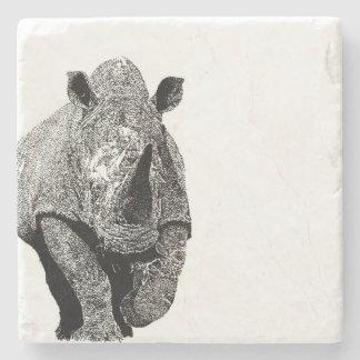 Schwarzweiss-Nashorn Steinuntersetzer
