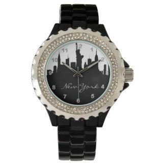 Schwarzweiss-New- YorkSkyline Uhr