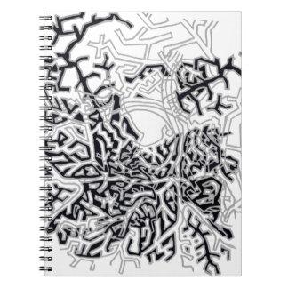 Schwarzweiss-Niederlassungs-Notizbuch Spiral Notizblock