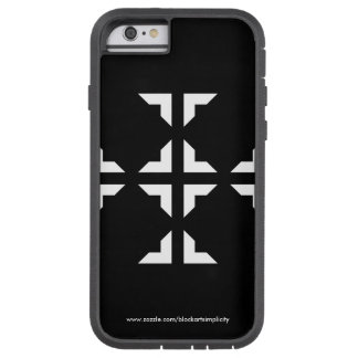 Schwarzweiss-Ninja Telefon-Kasten Tough Xtreme iPhone 6 Hülle