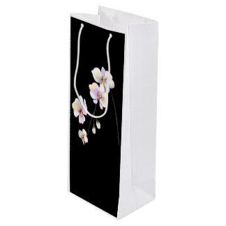Schwarzweiss-Orchideen-Wein-Tasche Geschenktüte Für Weinflaschen