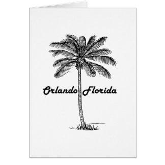 Schwarzweiss-Orlando- u. Palmenentwurf Karte