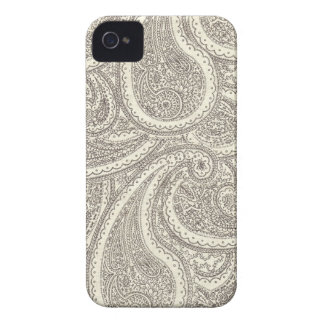 Schwarzweiss-Paisley-Muster iPhone 4 Etuis