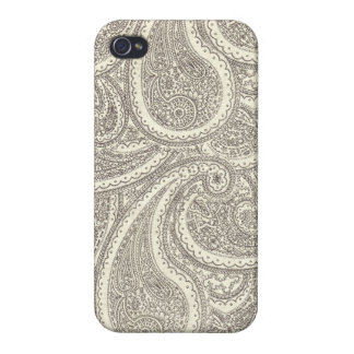 Schwarzweiss-Paisley-Muster iPhone 4/4S Case