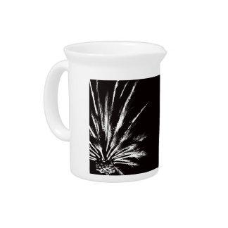 Schwarzweiss-Palme Getränke Pitcher