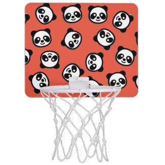 Schwarzweiss-Panda-Cartoon-Muster Mini Basketball Netz