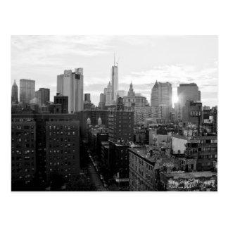 Schwarzweiss-Postkarte von New York City Postkarte