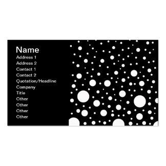 Schwarzweiss-Punkte Visitenkarten