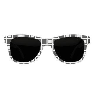 Schwarzweiss-Quadrate Brille