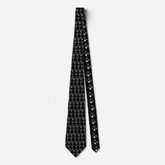 Schwarzweiss-Rasen rollt Muster, Individuelle Krawatten
