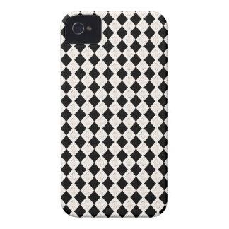 Schwarzweiss-Rauten-Kunst-Muster-BlackBerry-Kasten iPhone 4 Hüllen