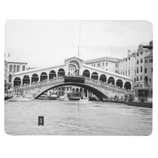 Schwarzweiss-Rialto Brücke, Venedig Taschennotizbuch