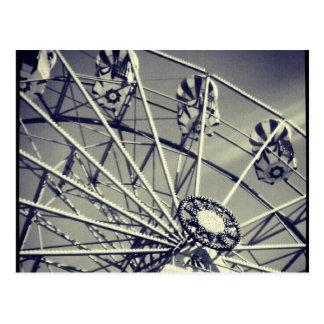 Schwarzweiss-Riesenrad Postkarte