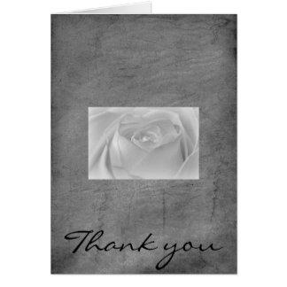 Schwarzweiss-Rose, danke Karte