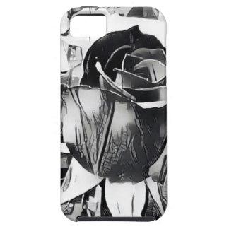 Schwarzweiss-Rose iPhone SE/5/5s Telefon-Kasten iPhone 5 Schutzhüllen