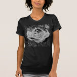 Schwarzweiss-Rosen-Vintager T - Shirt