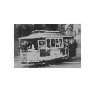 Schwarzweiss-San Francisco Drahtseilbahn Leinwanddrucke