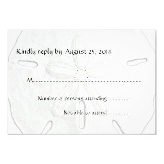 Schwarzweiss-Sand-Dollar-Strand-Hochzeit UAWG 8,9 X 12,7 Cm Einladungskarte