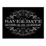 Schwarzweiss-Save the Date | Strudel und blühen Postkarten
