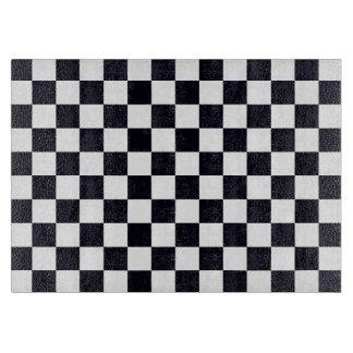 Schwarzweiss-Schachbrett-Muster Schneidebrett
