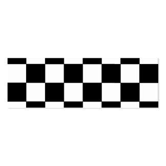 Schwarzweiss-Schachbrett-Retro Hipster Jumbo-Visitenkarten