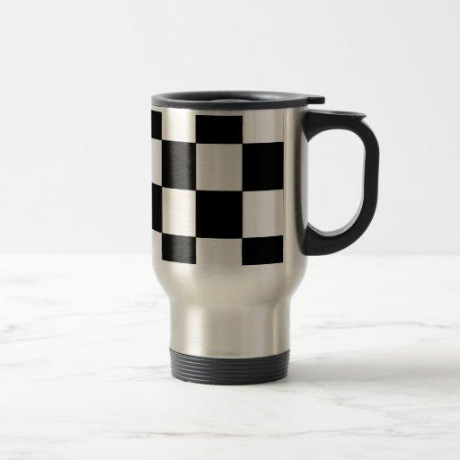 Schwarzweiss-Schachbrett-Retro Hipster Kaffee Tassen