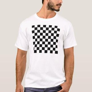 Schwarzweiss-Schachbrett T-Shirt