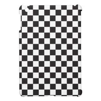 Schwarzweiss-Schachbrettmuster iPad Mini Hülle