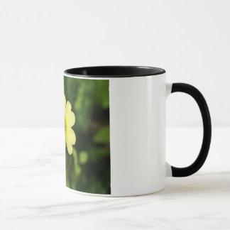 Schwarzweiss-Schale mit schöner gelber Blume Tasse