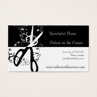 Schwarzweiss-Scheren Visitenkarte