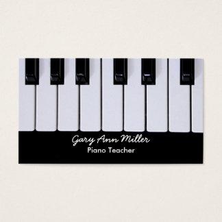 Schwarzweiss-Schlüssel-Klavier-Lehrer Visitenkarte