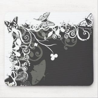 Schwarzweiss-Schmetterlinge Mousepad
